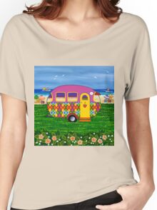 Caravan Holiday ~ Mary-Sue Women's Relaxed Fit T-Shirt