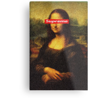 Supreme Mona Lisa Metal Print