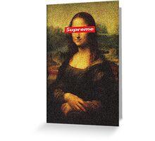Supreme Mona Lisa Greeting Card