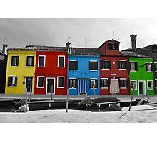 Burano coloured houses Photographic Print