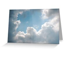 Clouds rays Greeting Card