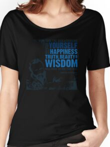 Christopher Hitchens: Think For Yourself Women's Relaxed Fit T-Shirt