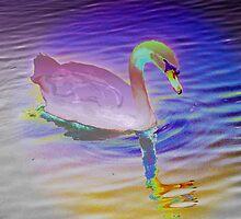 Swan mirror in pastels by ♥⊱ B. Randi Bailey