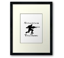 Spartan In Training Framed Print