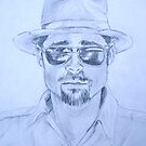 Brad Pitt by Carole Russell
