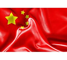 China Flag Photographic Print