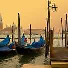 Sunset in Venice Italy by Moshe Cohen