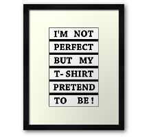 Imperfect perfection in white Framed Print