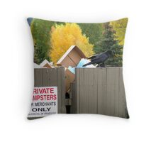 Ravens Don't Read Signs! Throw Pillow