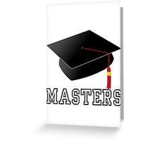 Masters Greeting Card
