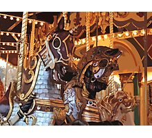 The Golden Age of The Carousel Photographic Print