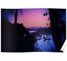 Estuary Sunset Poster