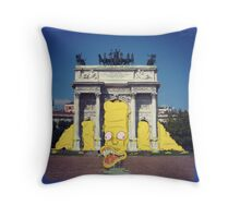 Monsters in Milan 2  Throw Pillow
