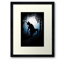 Howling Into The Woods Framed Print