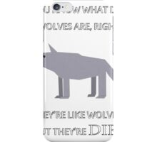 CANADIAN DIRE WOLVES iPhone Case/Skin