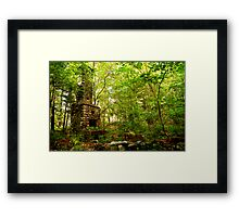 Fireplace in Woods Framed Print