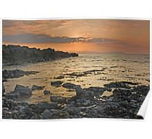 Rock Sunset Landscape Poster