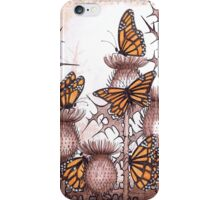 Smaller Monarch butterflies and  spear thistles iPhone Case/Skin