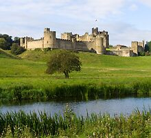 Alnwick Castle and the Aln by TomGreenPhotos