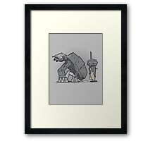 Trooper Scooper Framed Print