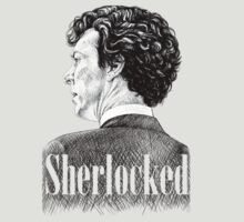Sherlock Holmes - Sherlocked Crosshatch Portrait by Christina Smith