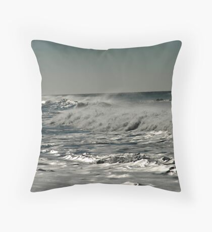 Liquid Silver Throw Pillow