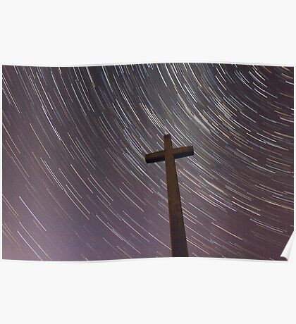 Cross & Stars Poster