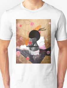 Contemporary fashionistas floral collage T-Shirt