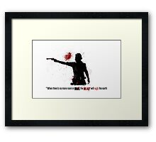 When the Dead Walk the Earth. Framed Print