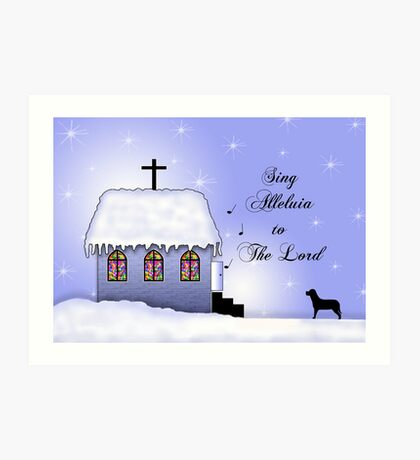 Church Snow Scene Art Print