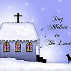 Church Snow Scene by Sheryl Kasper