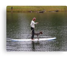 Surfing the Lake Canvas Print