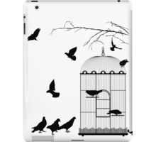 Birds and birdcage iPad Case/Skin
