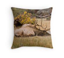 Existential Elk Throw Pillow