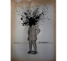 His ego grew too big for his head Photographic Print