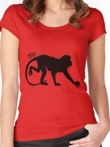Monkey Man Dan Women's Fitted Scoop T-Shirt