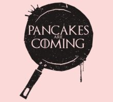 Pancakes Are Coming- Black Version One Piece - Long Sleeve