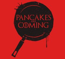 Pancakes Are Coming- Black Version One Piece - Short Sleeve