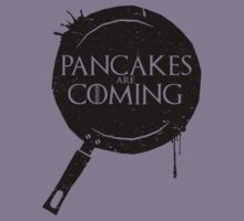 Pancakes Are Coming- Black Version Kids Tee