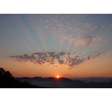 sunrise over the smokies Photographic Print