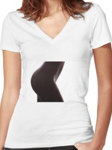 Sensual Silhouette Women's Fitted V-Neck T-Shirt