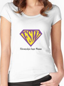 Fibromyalgia Super Woman Women's Fitted Scoop T-Shirt