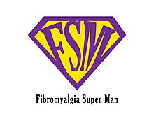 Fibromyalgia Super Man Photographic Print