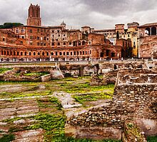 Trajan's Market and Forum - Impressions Of Rome by Georgia Mizuleva