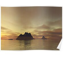 Tranquil Islands Poster
