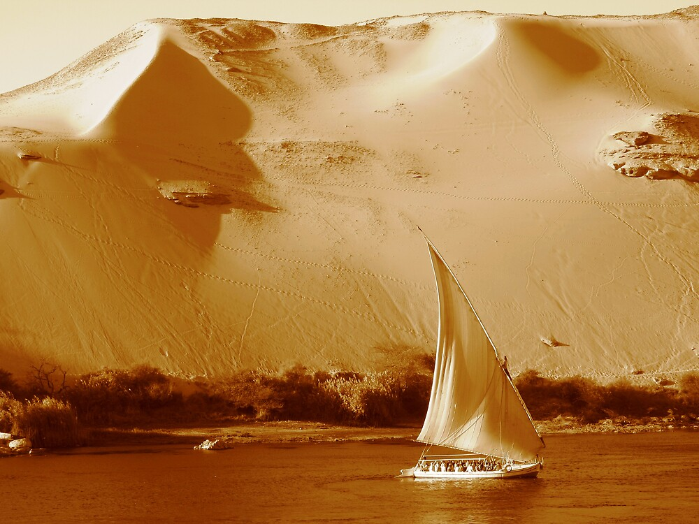 Felucca meets the Nile and the Sahara by Chris Steele