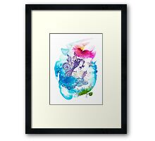 """With the Head in the Clouds"" from the series: ""Angels of Protection"" for Kids Framed Print"