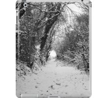 Lane in the snow iPad Case/Skin