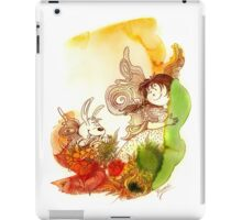 """""""PEEKABOO"""" from the series """"Angels of Protection"""" for Kids iPad Case/Skin"""