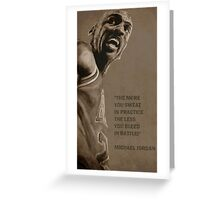 Michael Jordan - quote Greeting Card